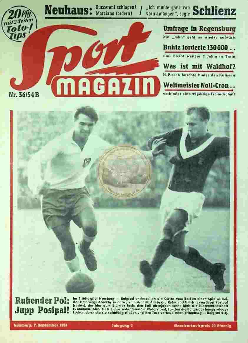 1954 September 9. Sport Magazin Nr. 36