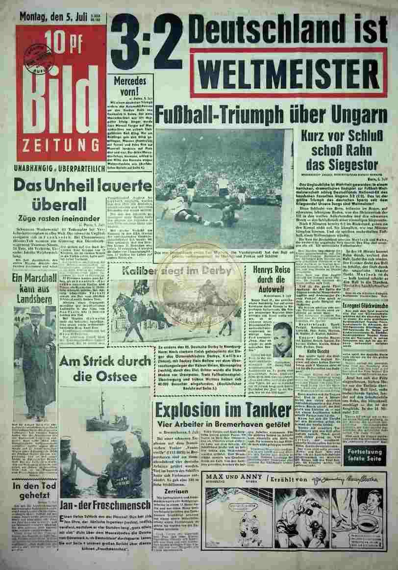 1954 Juli 5. Bildzeitung