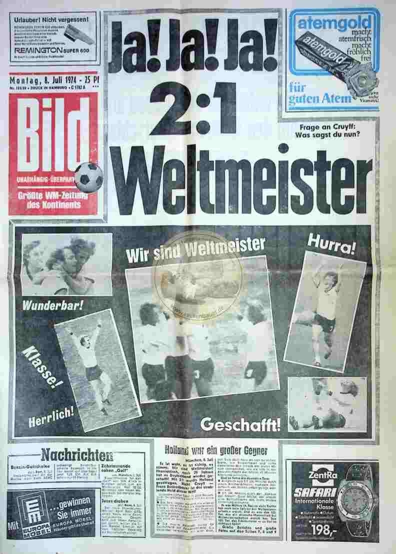 1974 Juli 8. Bildzeitung Hamburg