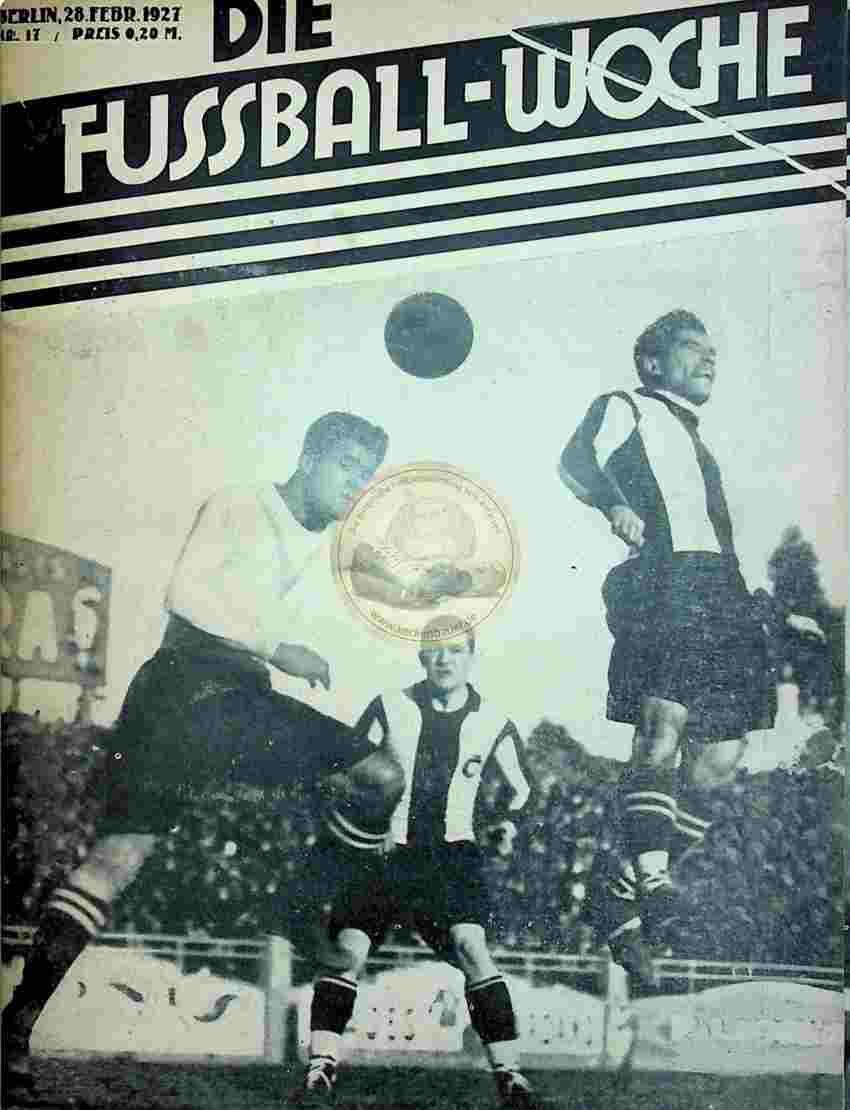 1927 Februar 28. Fussball-Woche Nr. 17