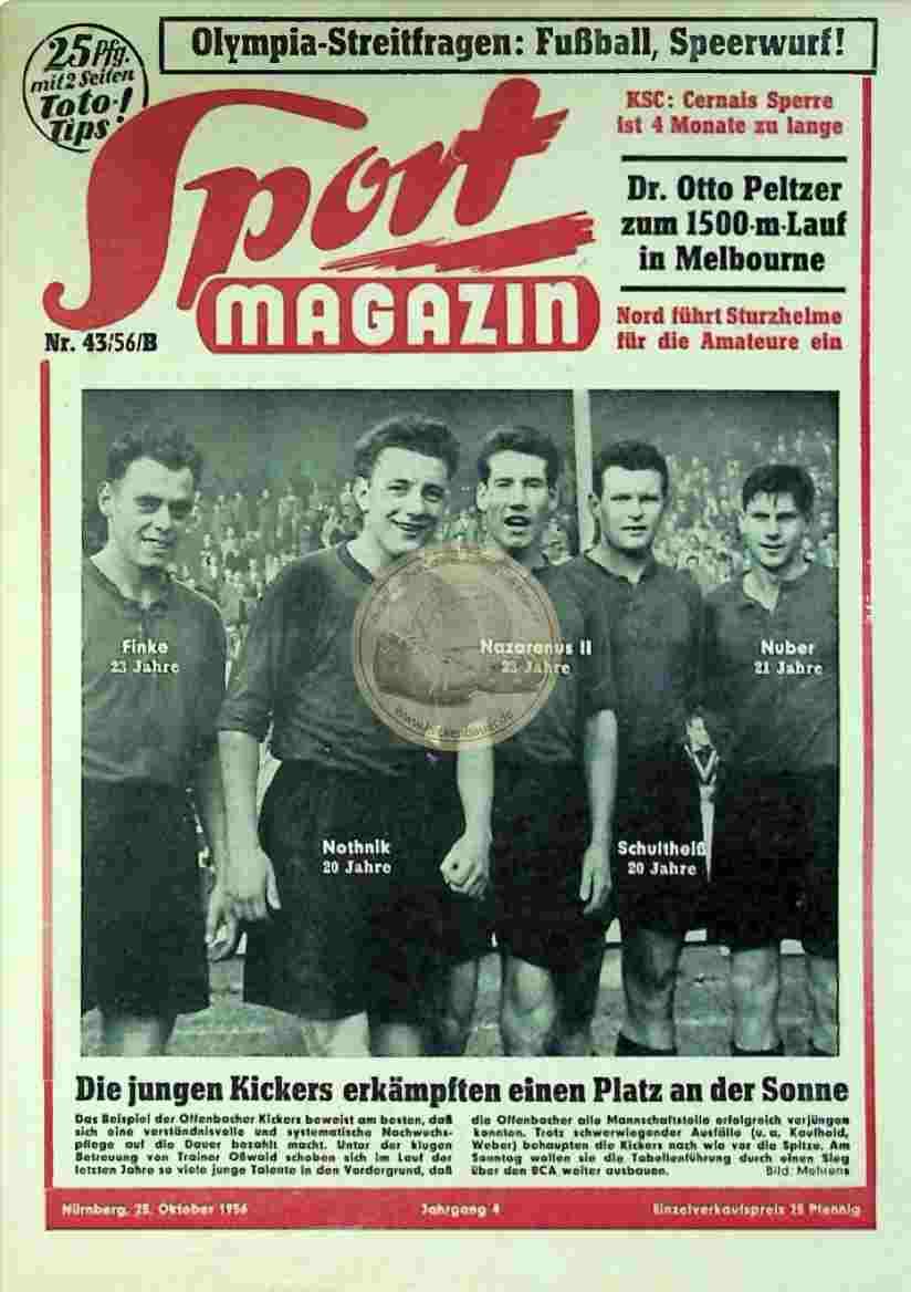 1956 Oktober 25. Sport Magazin Nr. 43