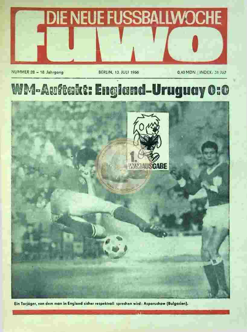 1966 Juli 13. Die neue Fussballwoche fuwo Nr. 28