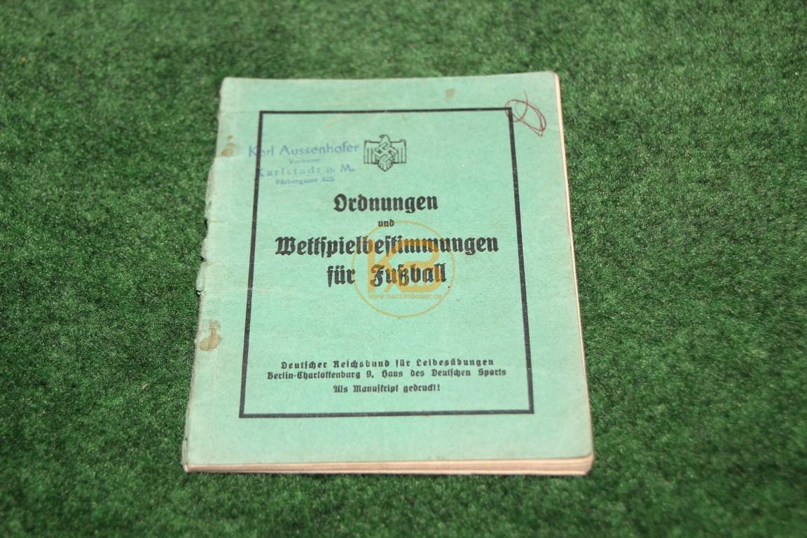 Ordnungen und Wettspielbestimmungen für Fußball