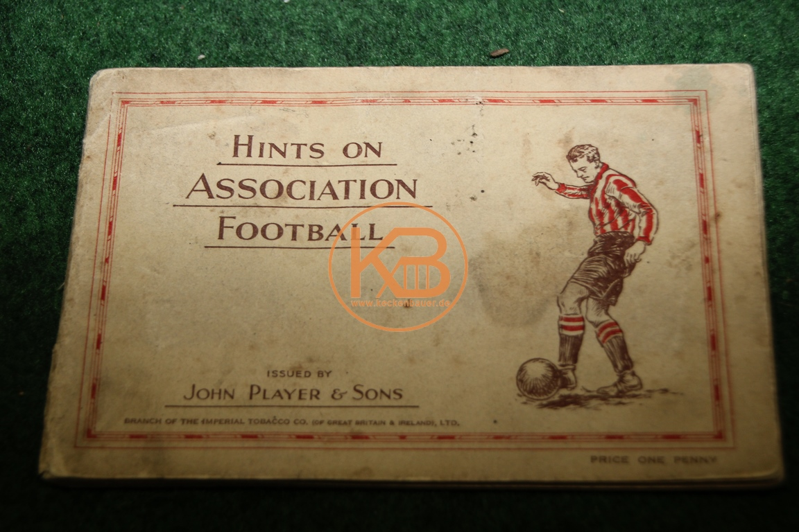 Hints Association Football von John Player & Sons komplett aus den 1930er Jahren