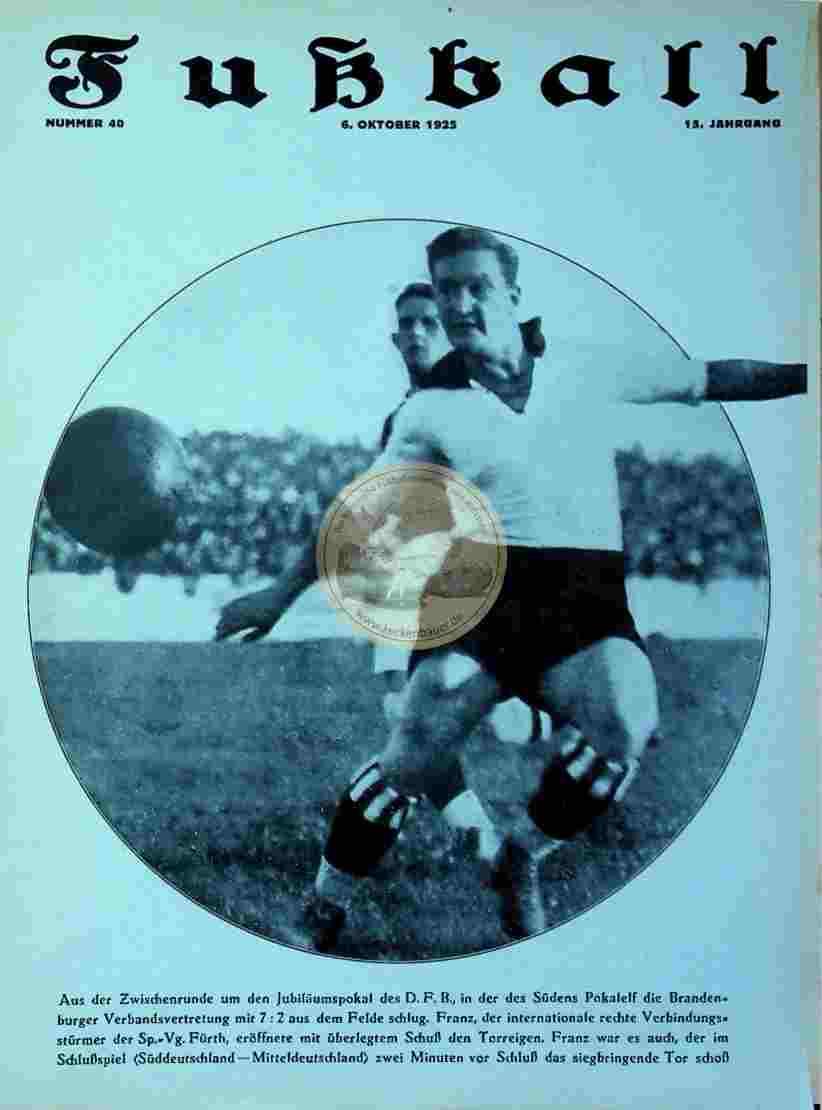 1925 Oktober 6. Fußball Nummer 40