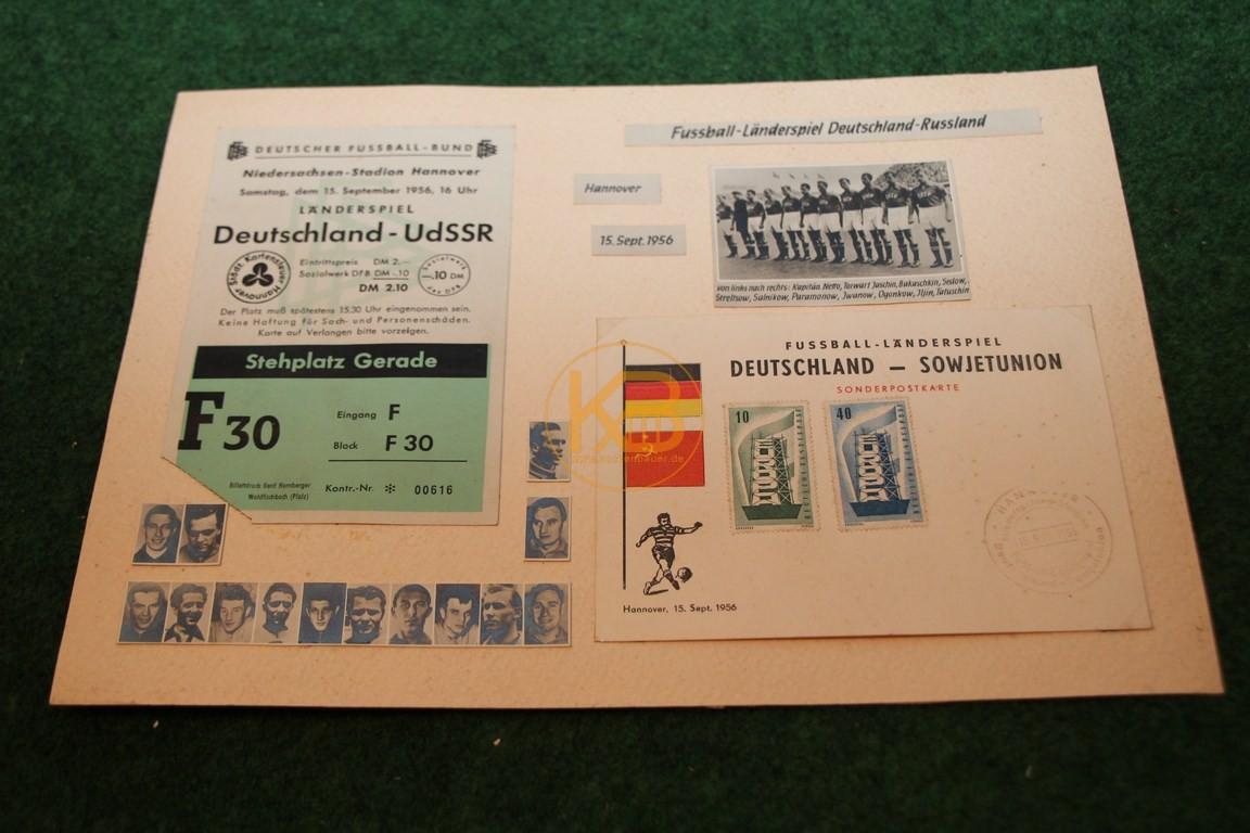 Sammlung zum Länderspiel Deutschland vs. Udssr am 15.09.1956 in Hannover,