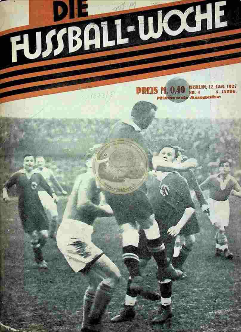 1927 Januar 12 Fussball-Woche Nr. 4