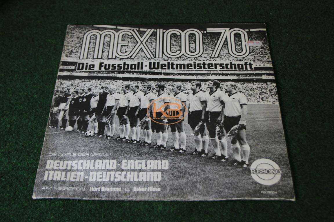 LP mit den Spielen der Spiele Deutschland gegen England und Italien gegen Deutschland von der WM 1970 in Mexico
