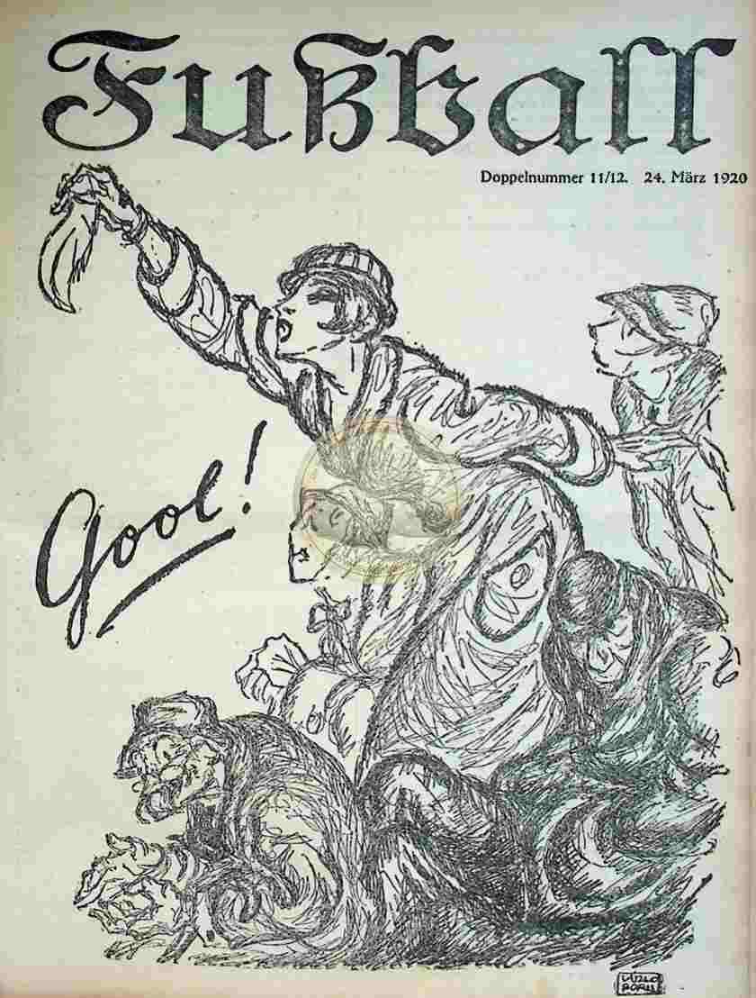 1920 März 24. Fußball Nr.11+12
