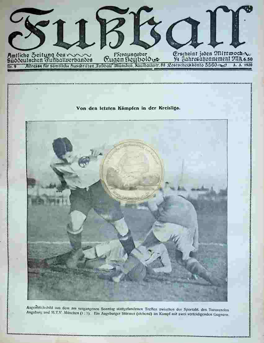 1920 März 3. Fußball Nr.9