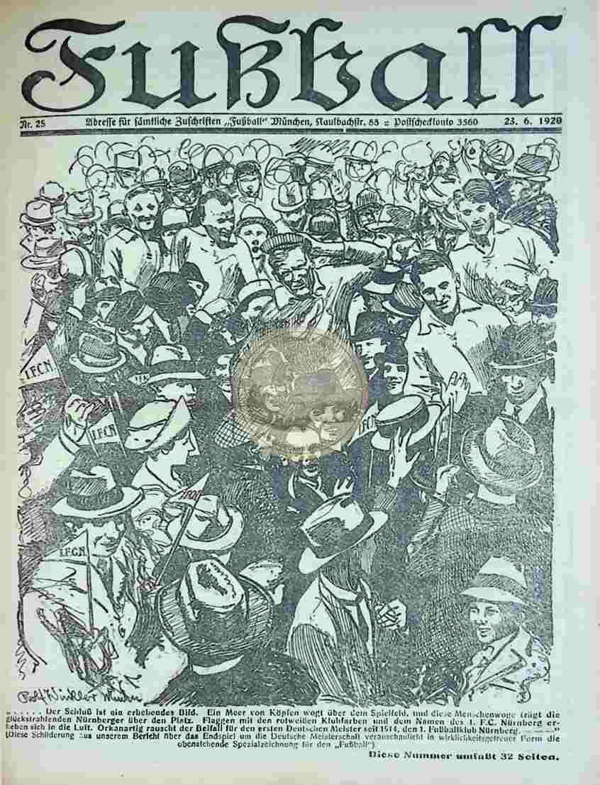 1920 Juni 23. Fußball Nr.25