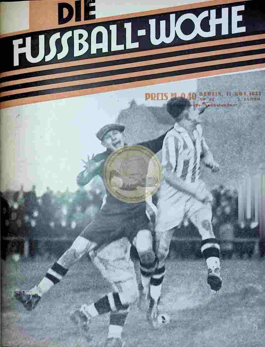 1927 November 17. Fussball-Woche Nr. 92
