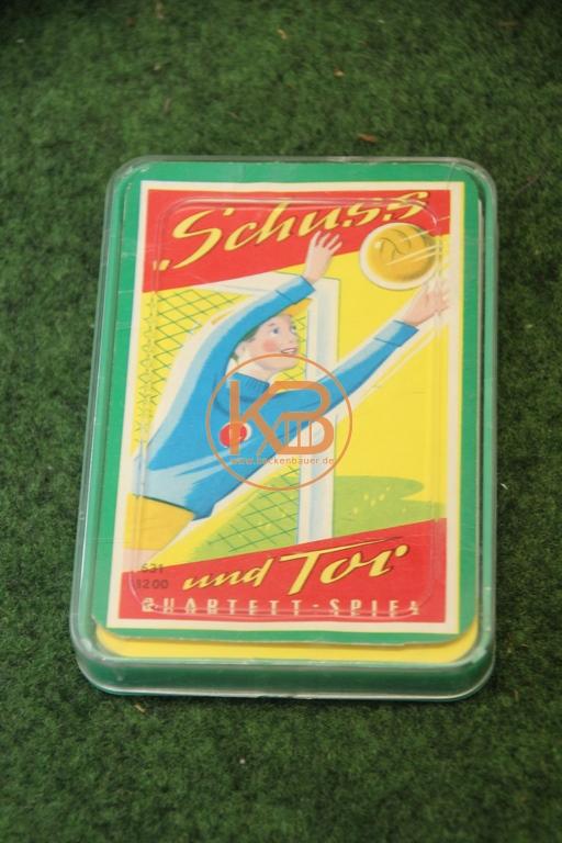 """Altes Fußball Quartett Spiel """"Schuß und Tor"""""""