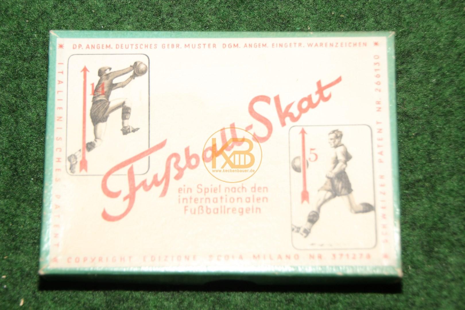 Fußball Skat Anleitung von Kappler, Ravensburg vermutlich um 1950