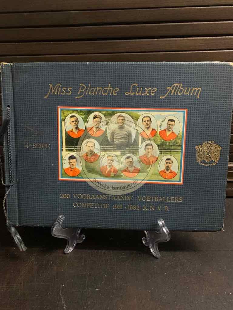 MIss Blanche Luxe Album 200 prominente Fußballer aus dem K.N.V.B. Wettbewerb 1931-1932.