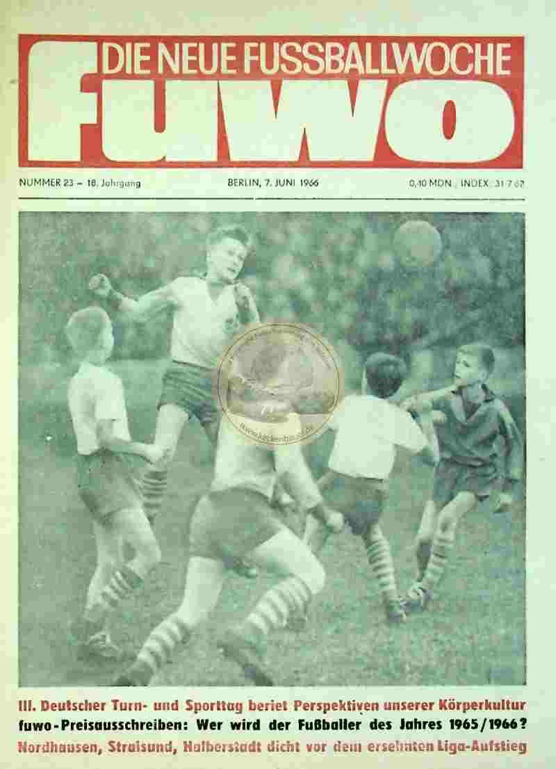 1966 Juni 7. Die neue Fussballwoche fuwo Nr. 23