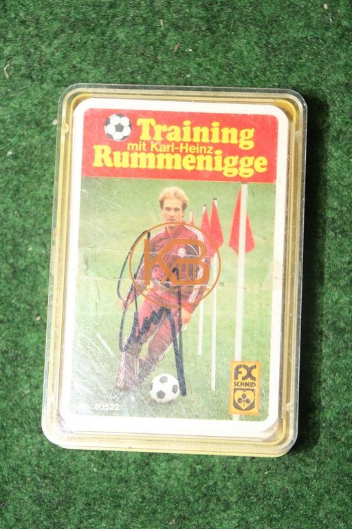 FX Schmid Training mit Karl-Heinz Rummenigge mit original Autogramm.