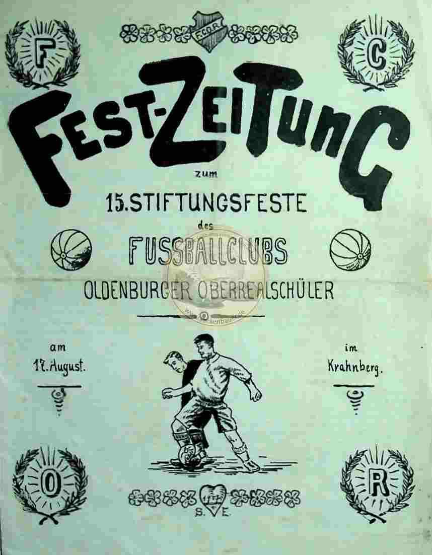 1907 August 17. Fest-Zeitung zum 15. Stiftungsfest