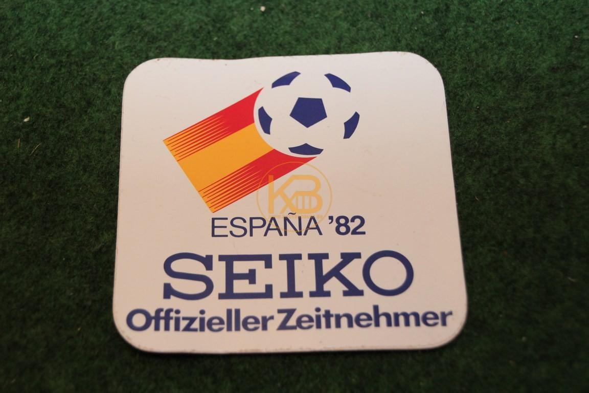 Aufkleber der WM 1982 in Spanien von Seiko.