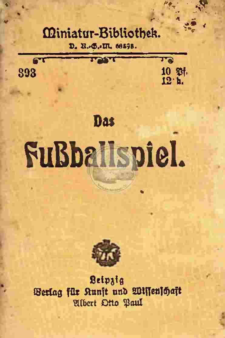 1909 Miniatur Bibliothek Fußball