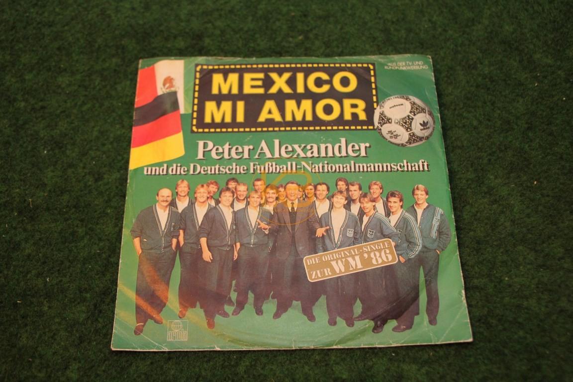 Platte Mexico Mi Amor Peter Alexander mit der Deutschen Nationalmannschaft.