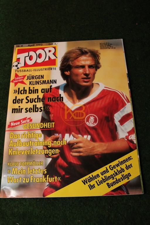 Toor Fußball Illustrierte vom April 1993, ob Jürgen sich mittlerweile gefunden hat?