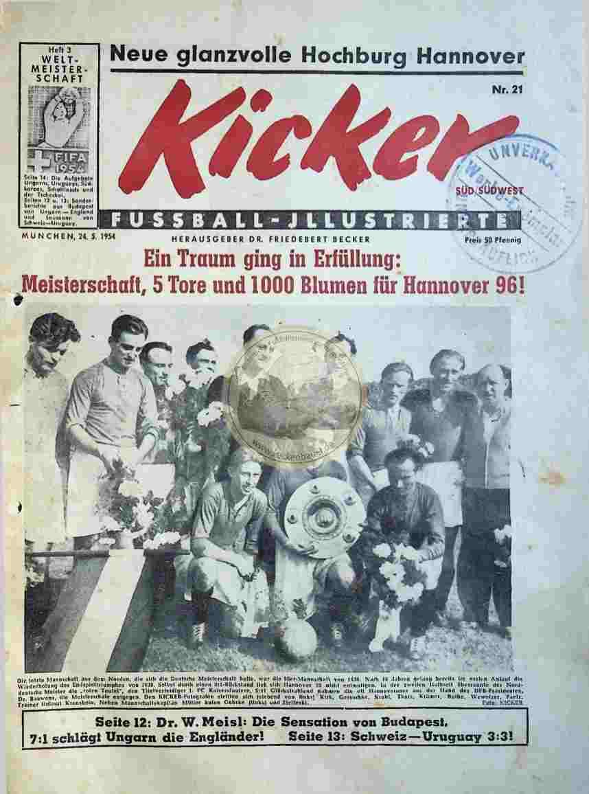 1954 Mai 24. Kicker Nr.21