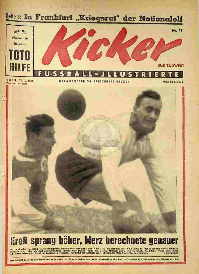 1954 Oktober 25. Kicker Nr.43