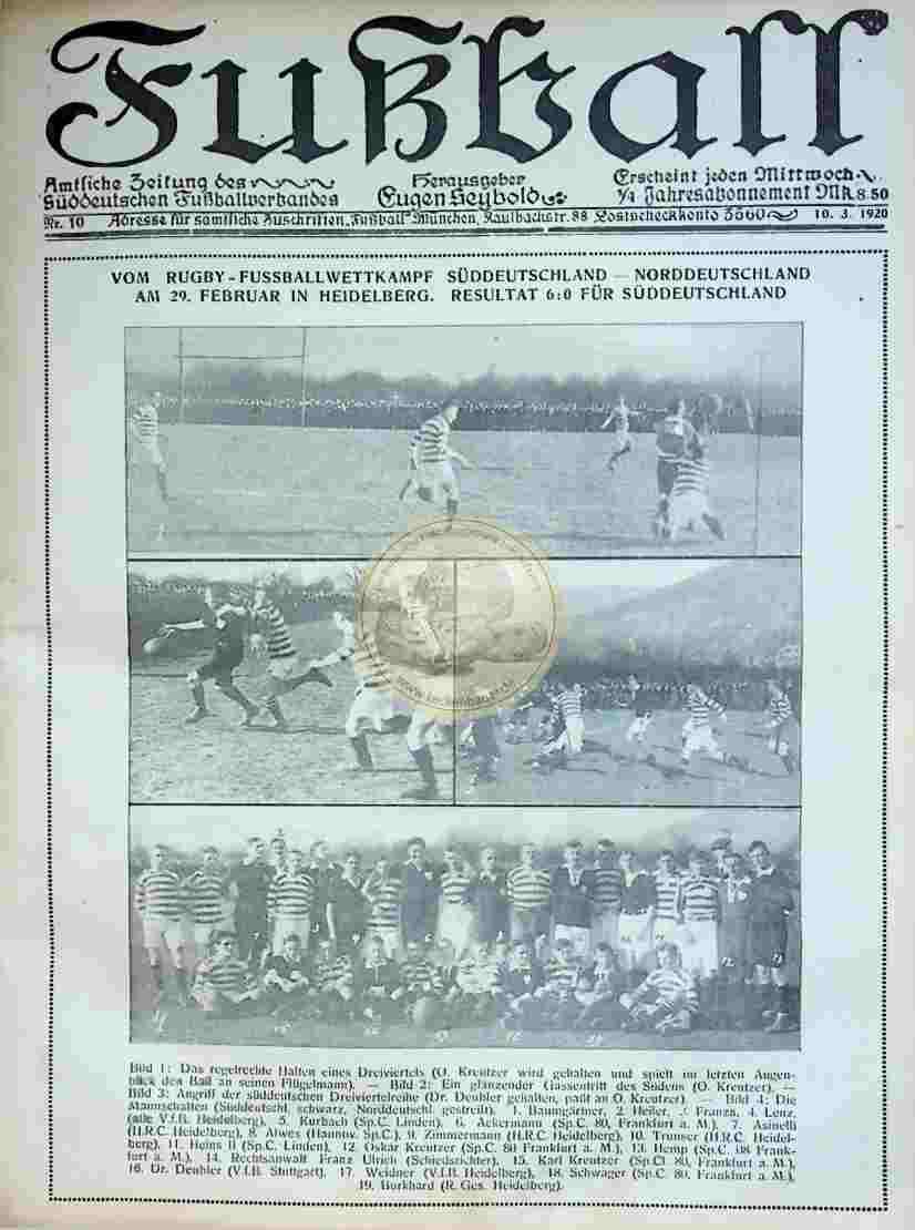 1920 März 10. Fußball Nr.10