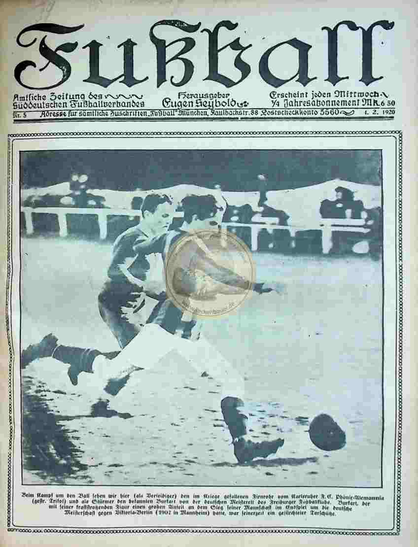 1920 Februar 4. Fußball Nr.5