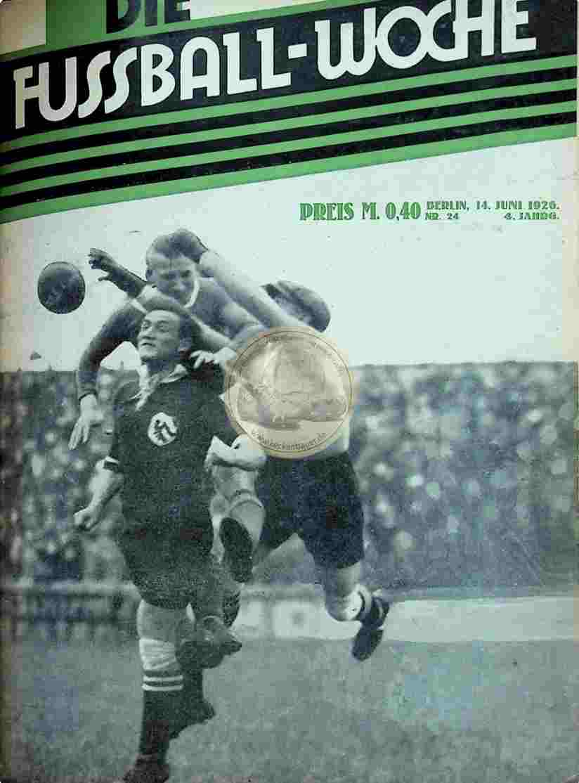 1926 Juni 14. Fussball-Woche Nr. 24