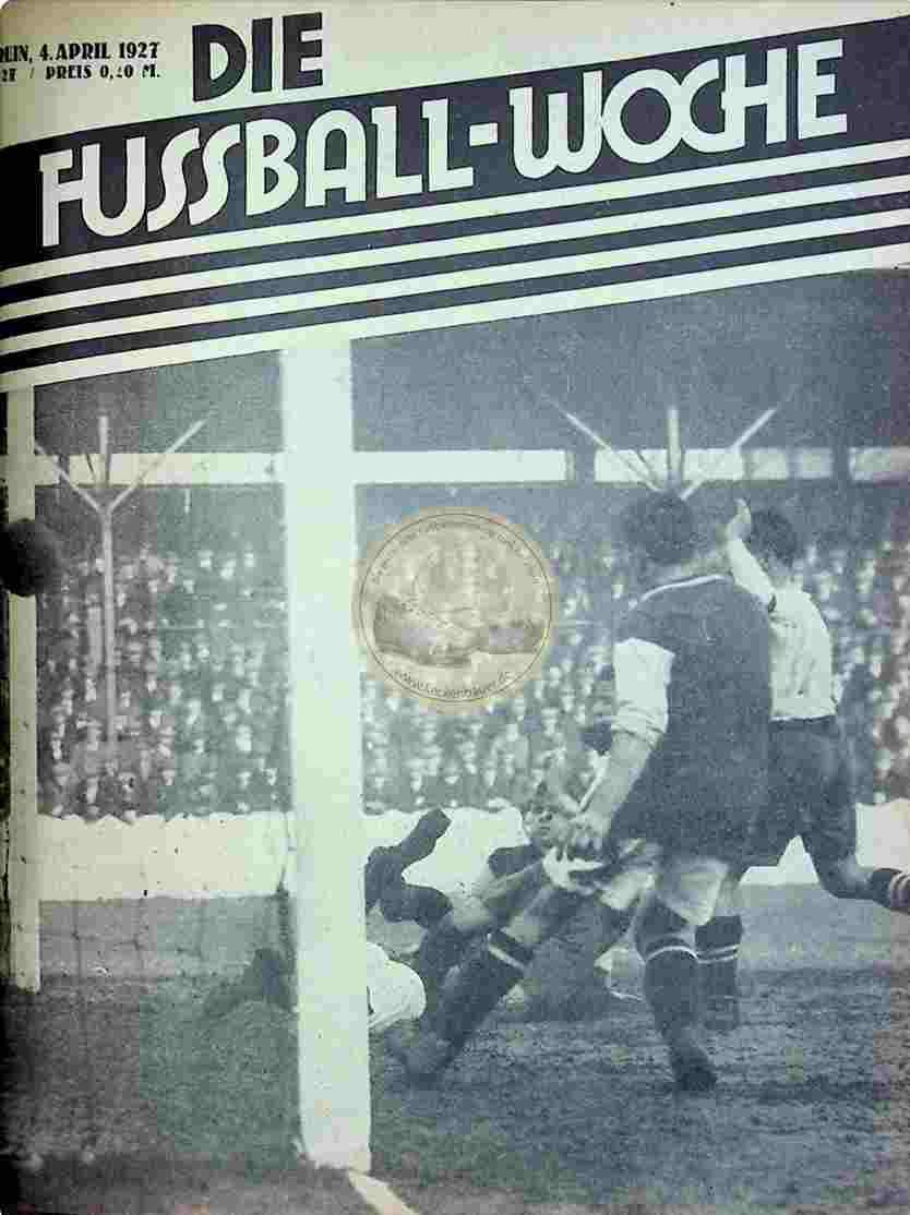 1927 April 4. Fussball-Woche Nr. 27