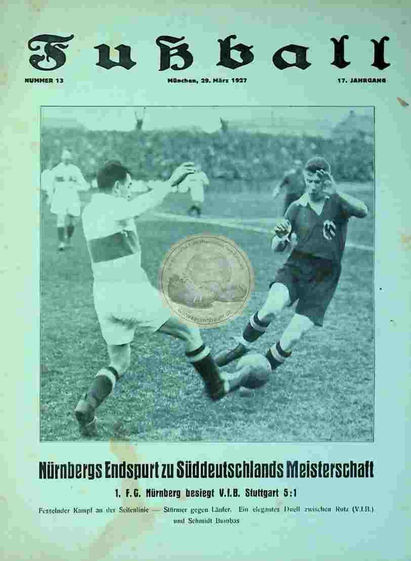 1927 März 29. Fußball Nr. 13