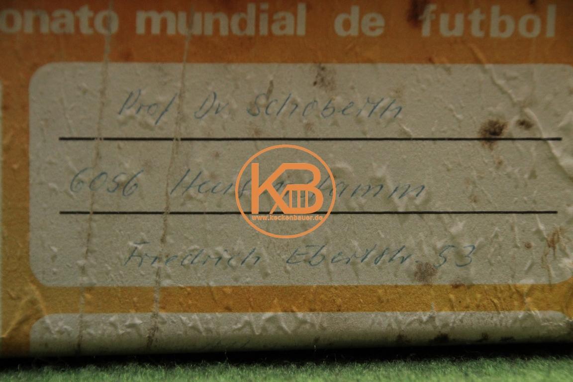 Original Sauerstoffflasche vom Mannschaftsarzt Prof. Dr. Schobert für die Behandlung der deutschen Nationalspieler bei der WM 1970 in Mexiko 2/5
