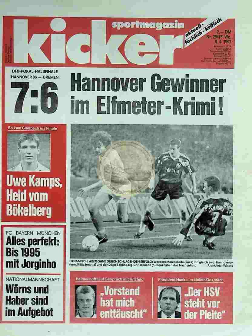 1992 April 9. Kicker Nr.29