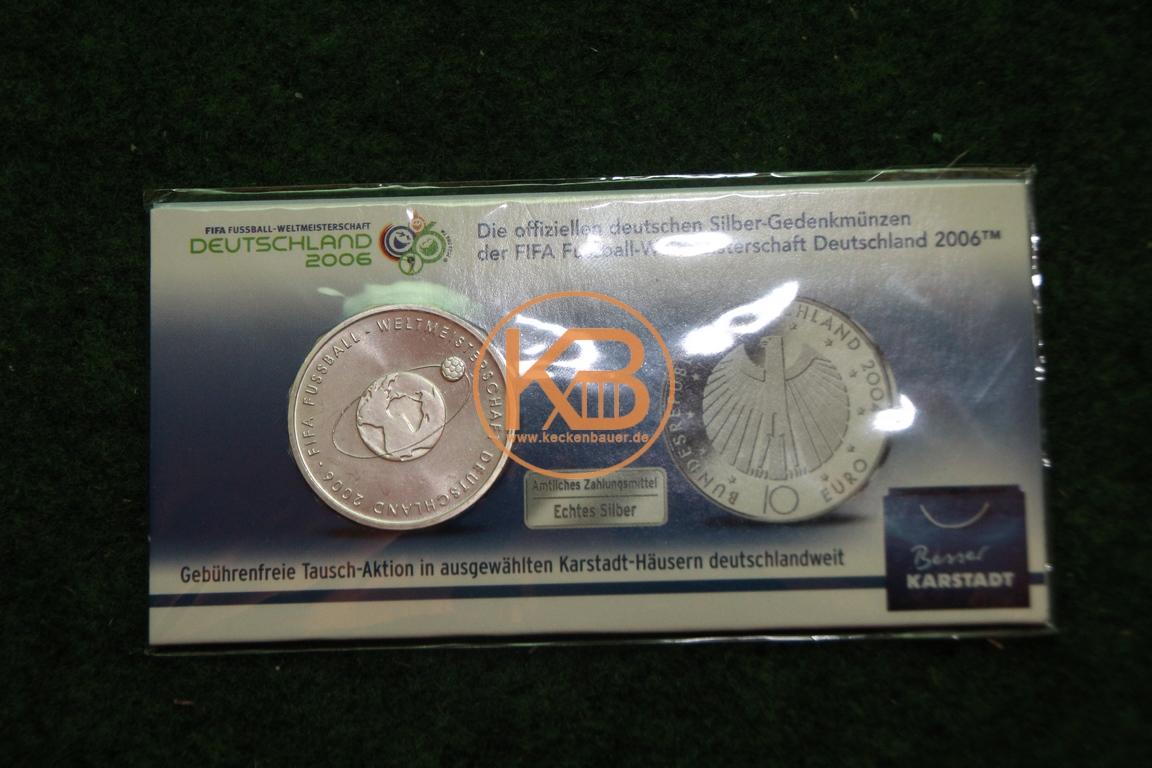 10€ Gedenkmünze zur Weltmeisterschaft 2006 in Deutschland
