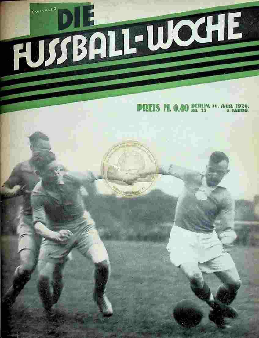 1926 August 30. Fussball-Woche Nr. 35