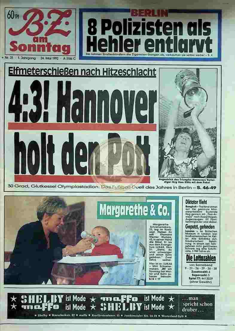 1992 Mai 24. BZ am Sonntag