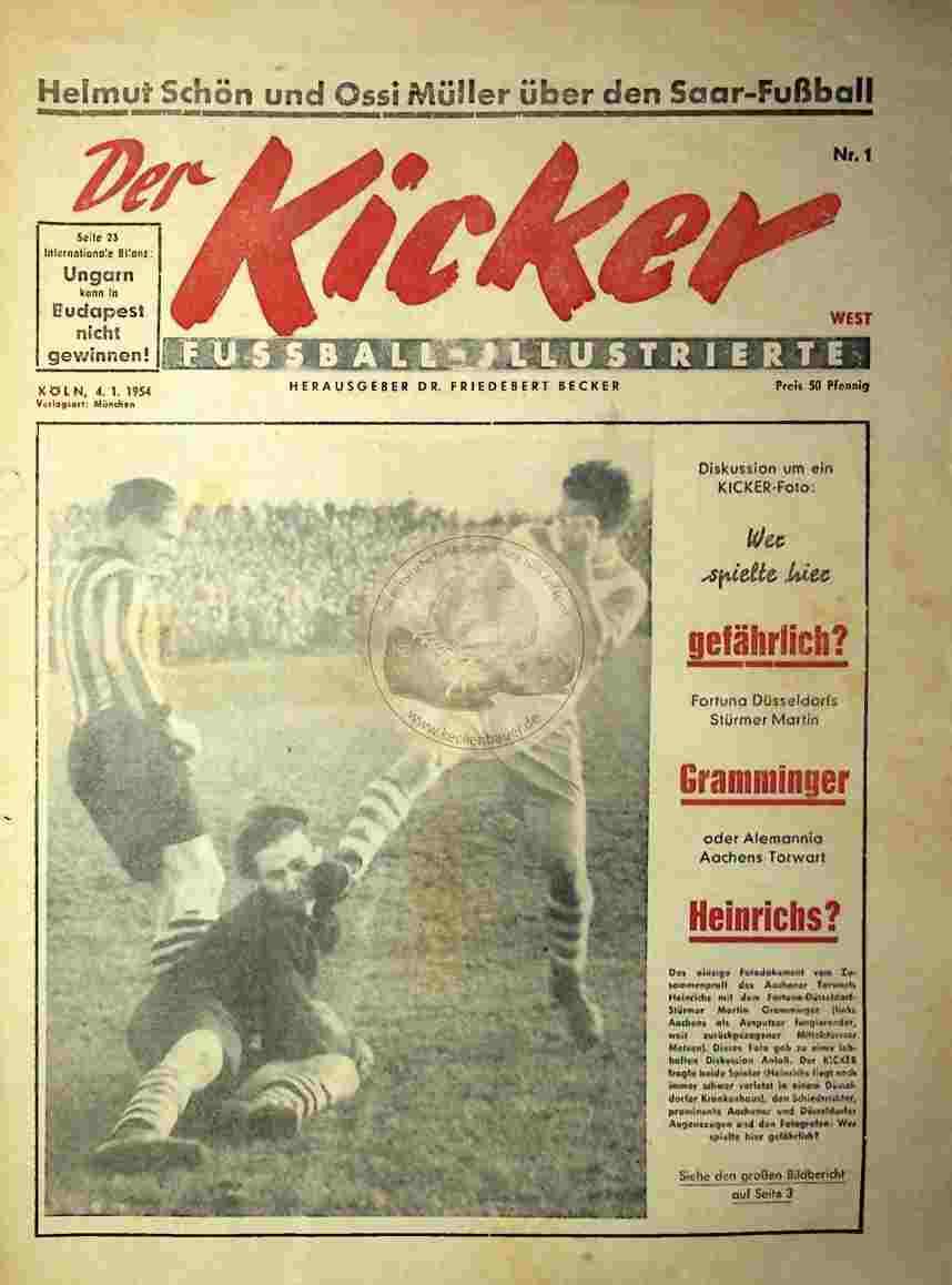 1954 Januar 4. Kicker Nr.1