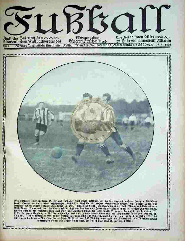 1920 Januar 28. Fußball Nr.4