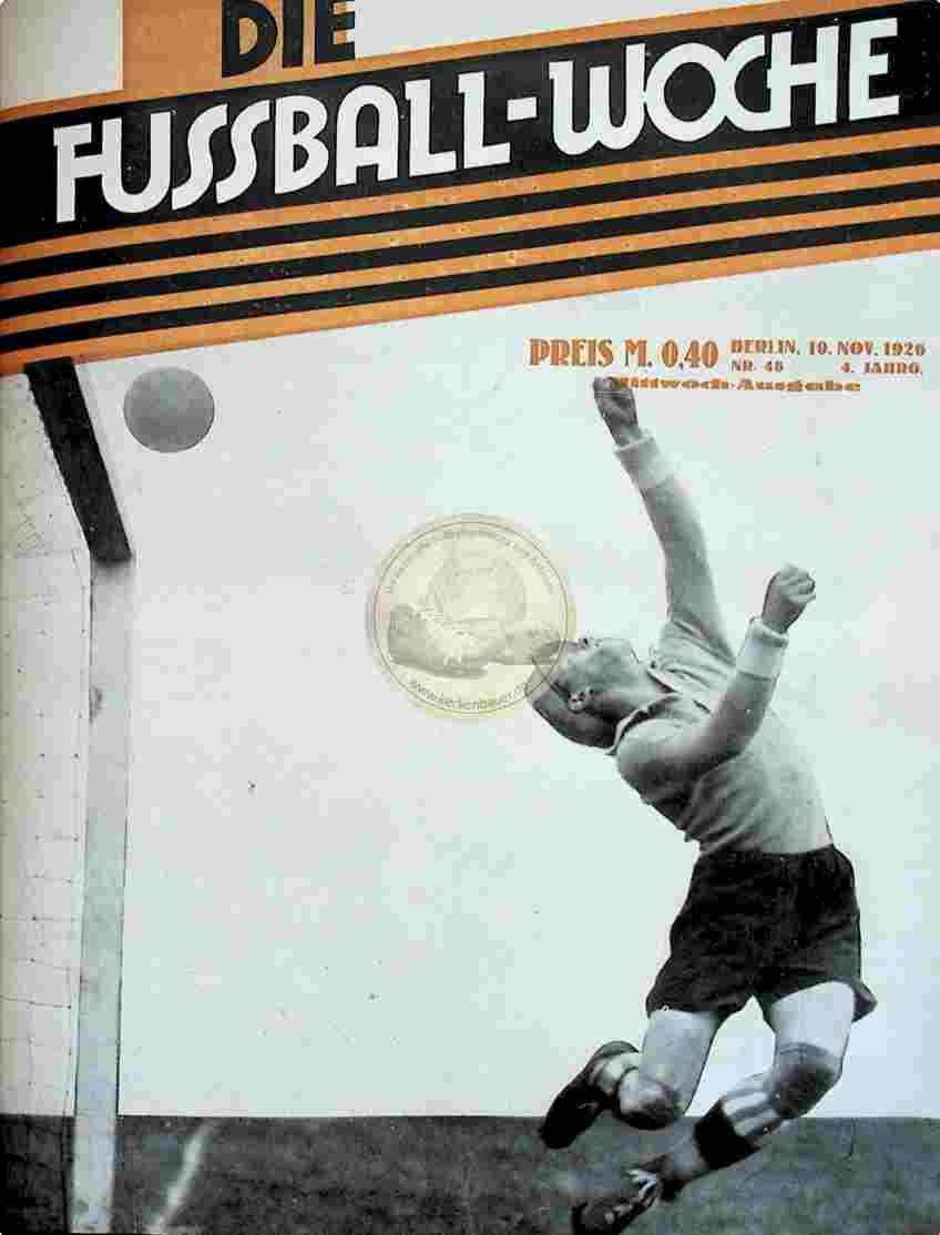 1926 November 10. Fussball-Woche Nr. 48