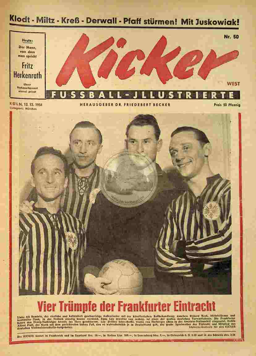 1954 Dezember 13. Kicker Nr.50