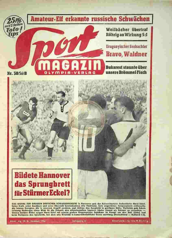 1956 September 20. Sportmagazin Nr. 38