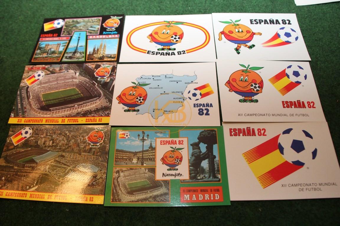 Konvolut Postkarten der WM 1982 in Spanien.