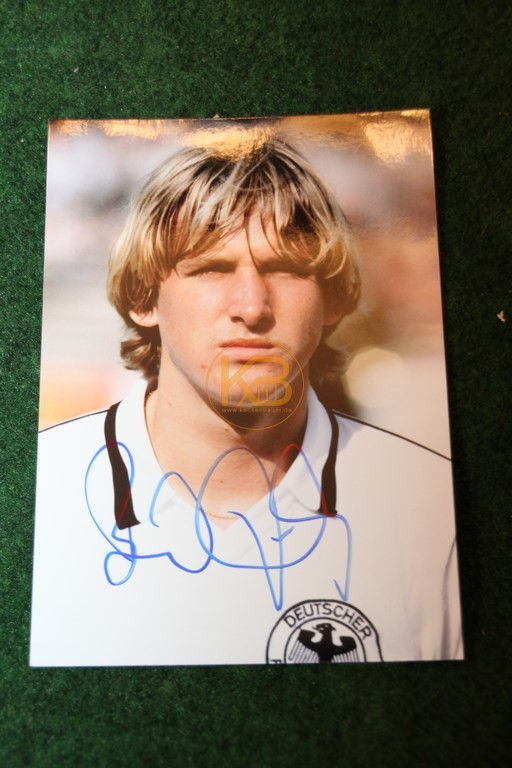 Original Foto von Bernd Schuster mit original Autogramm.