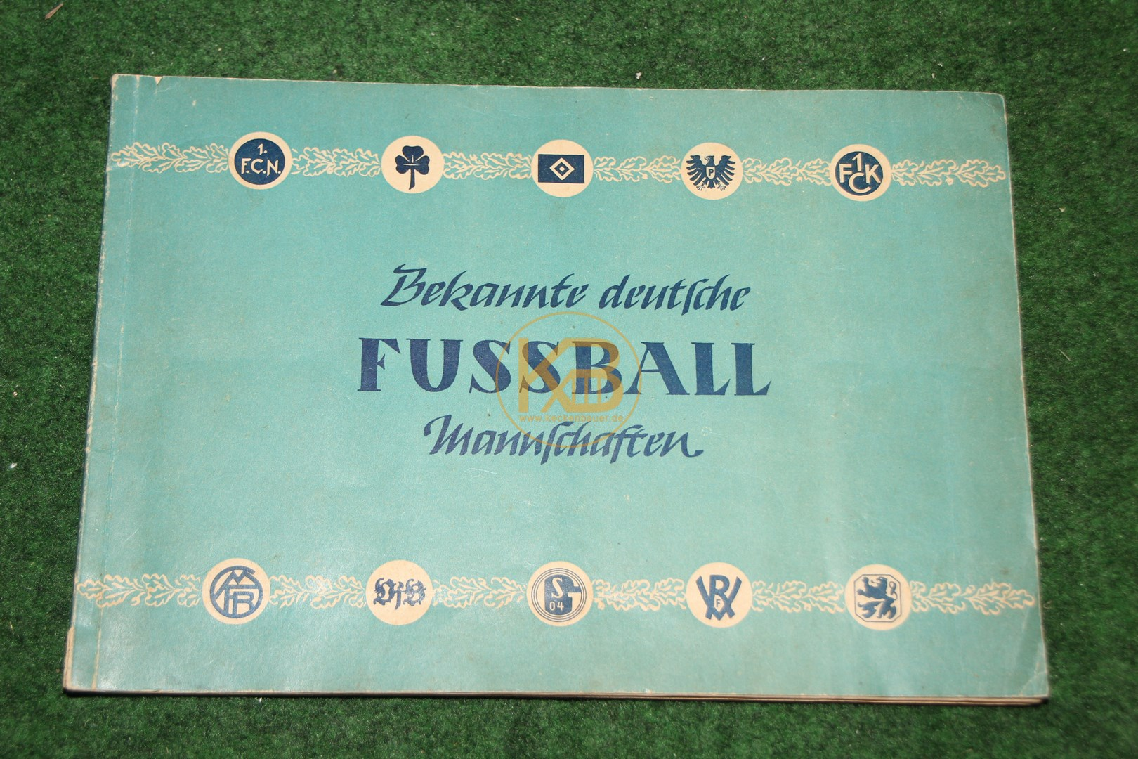 Sammelalbum Bekannte deutsche Fußball Mannschaften aus den 1950ern.