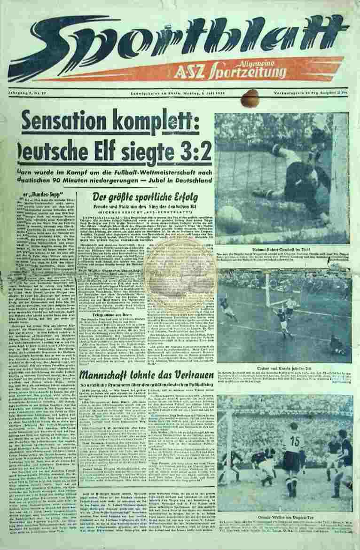 1954 Juli 5. Sportblatt Nr. 27