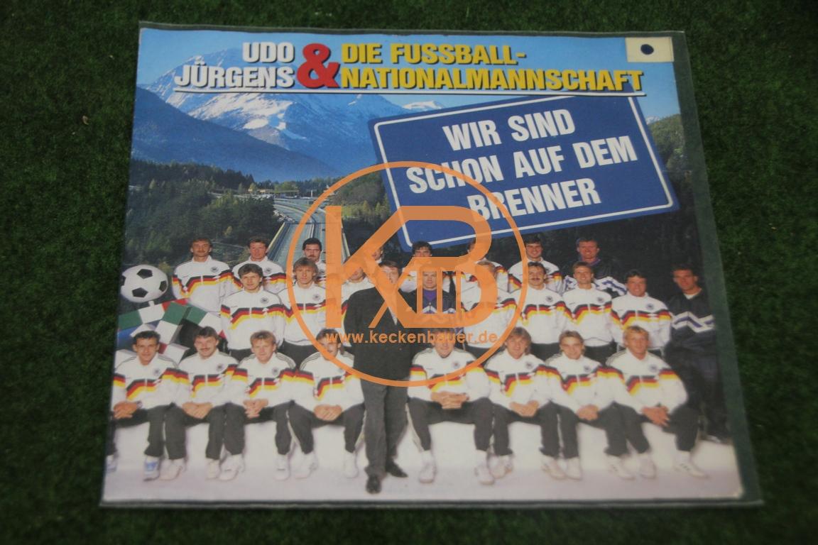 """Platte von Udo Jürgens und der Fußballnationalmannschaft mit """"Wir sind schon auf dem Brenner"""""""