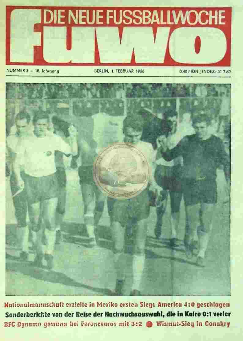 1966 Februar 1. Die neue Fussballwoche fuwo Nr. 5