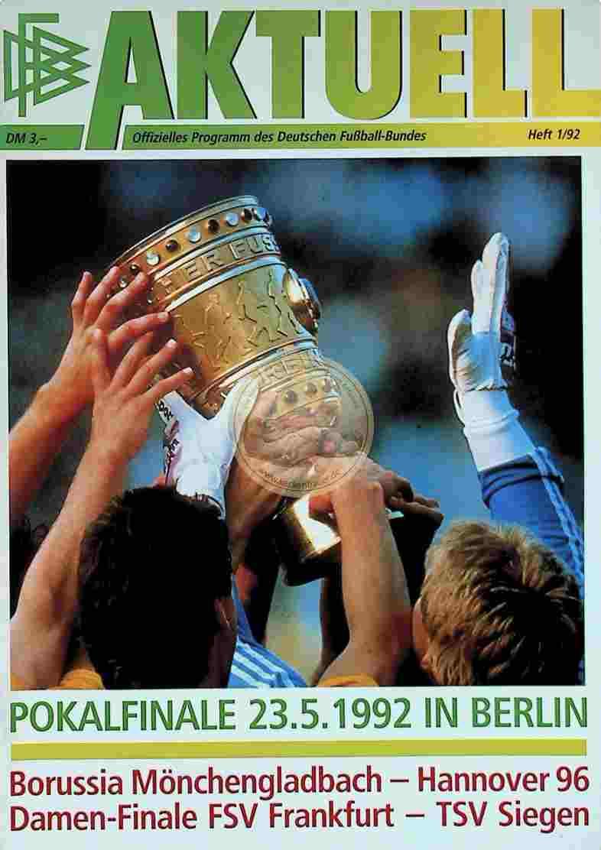 1992 Mai 23. Programm Borussia Mönchengladbach Hannover 96